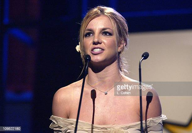 """Britney Spears during Britney Spears Receives 2002 Children's Choice Award at Neil Bogart Memorial Fund's """"Bogart Tour for a Cure"""" - Show at..."""
