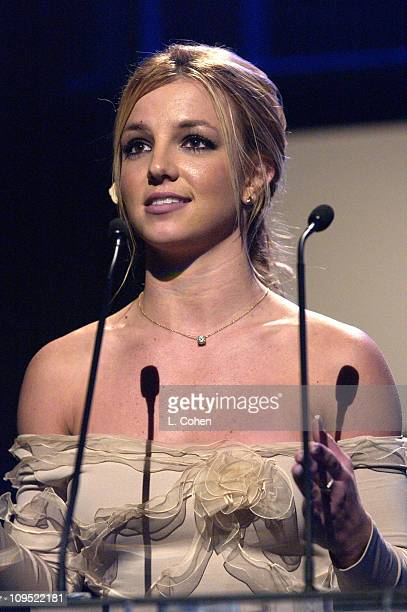 Britney Spears during Britney Spears Receives 2002 Children's Choice Award at Neil Bogart Memorial Fund's Bogart Tour for a Cure Show at Universal...