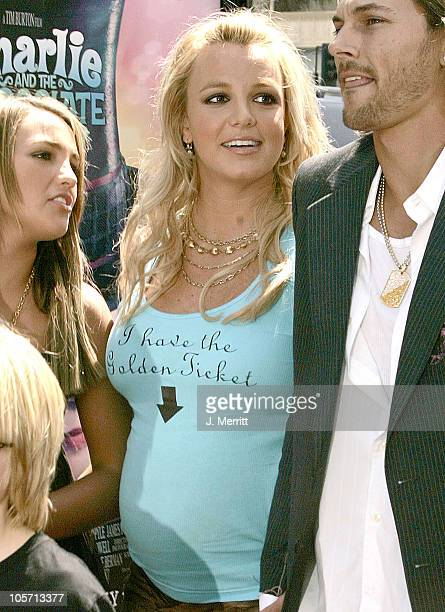 Britney Spears during Charlie and the Chocolate Factory Los Angeles Premiere Arrivals at Grauman's Chinese Theater in Hollywood California United...
