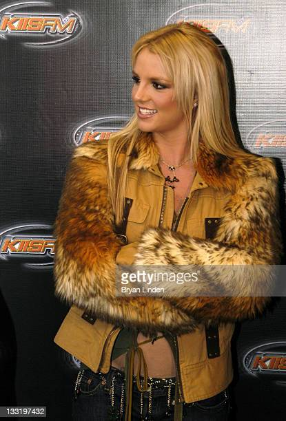 Britney Spears during KIIS FM's Jingle Ball 2003 Backstage at The Staples Center in Los Angeles California United States