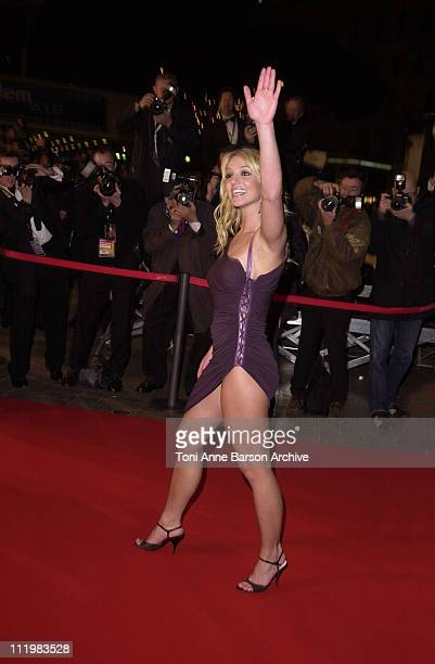 Britney Spears during NRJ Music Awards 2002 Arrivals at Palais des Festivals in Cannes France