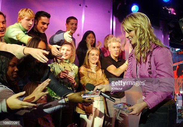 "Britney Spears during ""Spankin New Music Week"" on MTV's ""TRL"" - November 6, 2001 at MTV's TRL Studio in New York City, New York, United States."