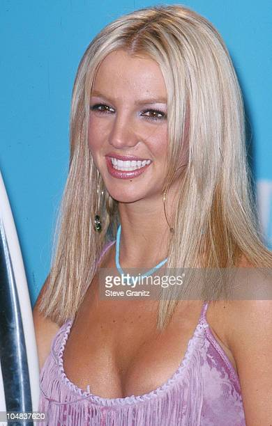 Britney Spears during The 2000 Teen Choice Awards at Barker Hanger in Santa Monica California United States