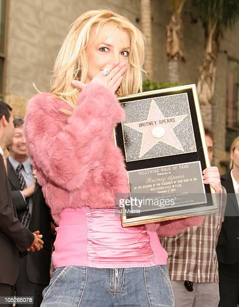 Britney Spears during The Hollywood Walk Of Fame Honors Britney Spears at The Hollywood Walk Of Fame in Hollywood California United States