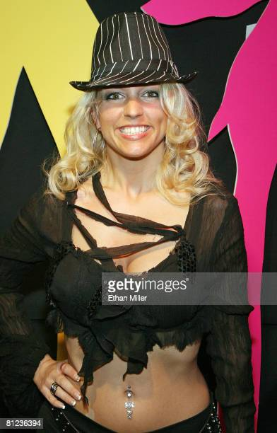 Britney Spears impersonator Wendy Thompson of Illinois arrives at the 17th annual Reel Awards at the Imperial Palace Hotel and Casino May 25 2008 in...