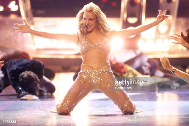 Britney Spears in David Dalrymple performing onstage at the 2000 MTV Video Music Awards held at Radio City Music Hall on September 7 2000...