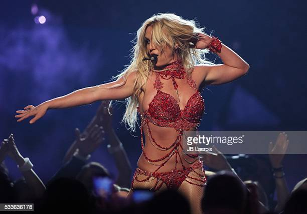 Britney Spears is seen on stage during the 2016 Billboard Music Awards held at the TMobile Arena on May 22 2016 in Las Vegas Nevada