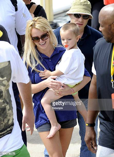 Britney Spears is seen with her son Jayden James as they disembark the MV Oscar in Woolloomooloo Sydney on November 15 2009 in Sydney Australia