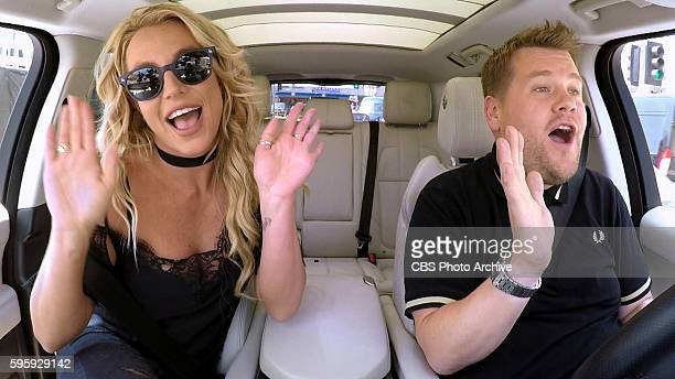Britney Spears joins James Corden for Carpool Karaoke on The Late Late Show with James Corden Airing Thursday August 25th 2016 on The CBS Television...