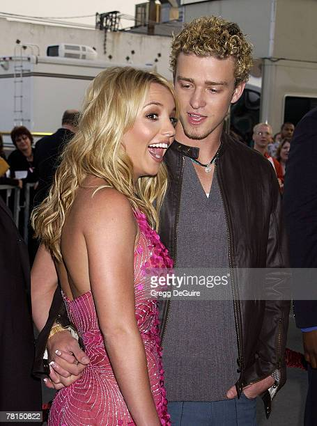 Britney Spears Justin Timberlake arrive at the 29th Annual American Music Awards