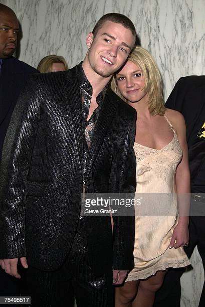 Britney Spears Justin Timberlake at the Beverly Wilshire Hotel in Los Angeles California