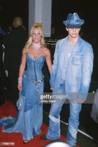 Britney Spears Justin Timberlake of NSYNC at the Shrine Auditorium in Los Angeles CA