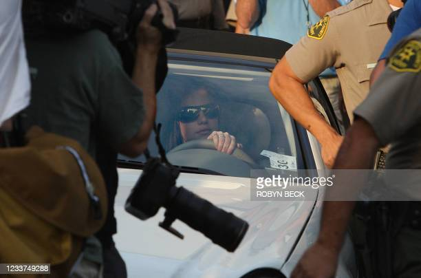 Britney Spears leaves Family Court after a hearing to work out custody arrangements with her ex-husband Kevin Federline for their two young sons, 26...