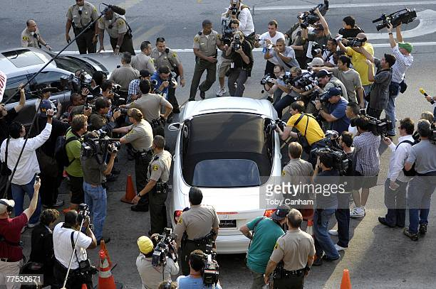 Britney Spears leaves the Stanley Mosk Courthouse after a hearing regarding her ongoing child custody case on October 26 2007 in Los Angeles...