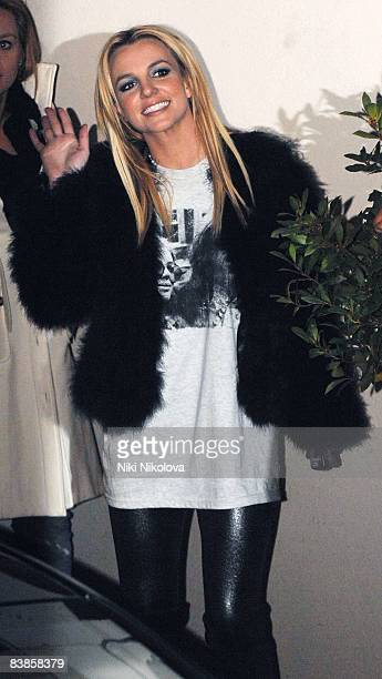 Britney Spears leaves the X Factore Studio's Wembley November 29 2008 in London England