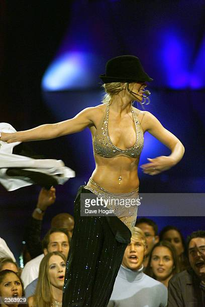 Britney Spears performing at the 2000 MTV Video Music Awards at Radio City Music Hall in New York City 9/7/2000