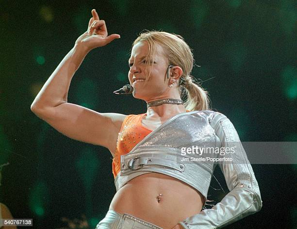 Britney Spears performing on stage at Wembley Arena in London on the 10th October 2000