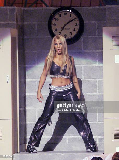 Britney Spears performing on the 1999 MTV Music Video Awards at the Metropolitan Opera House Lincoln Center in New York City on September 9 1999