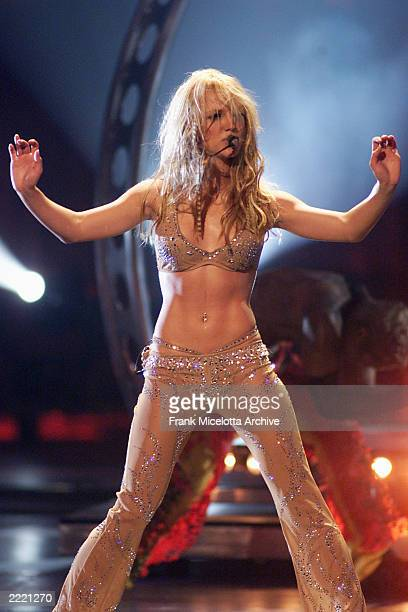Britney Spears performing on the 2000 MTV Video Music Awards at Radio City Music Hall in new York City, 9/7/00.
