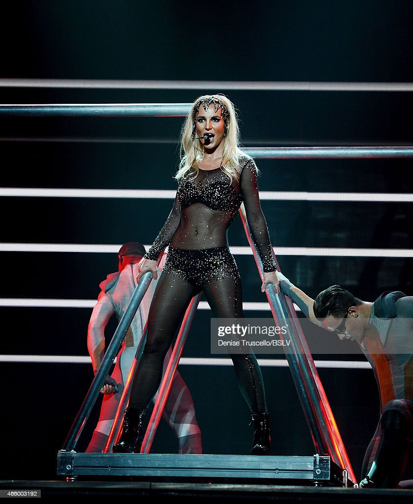 """Britney Spears At Her """"Britney: Piece Of Me"""" Show At Planet Hollywood Resort And Casino In Las Vegas, Nevada : News Photo"""