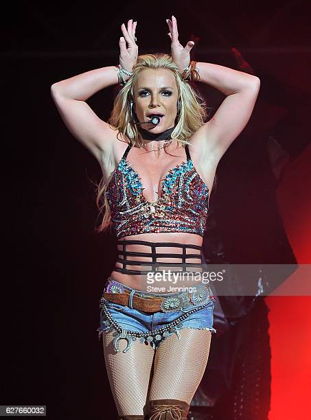 Britney Spears performs at the NOW 99.7 Triple Ho Show 7.0 at SAP Center on December 3, 2016 in San Jose, California.