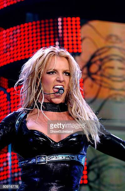 Britney Spears performs at the Odyssey Arena June 1 2004 in Belfast Northern Ireland