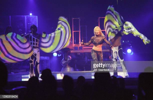 Britney Spears performs at the Staples Center in Los Angeles California on June 4 2002