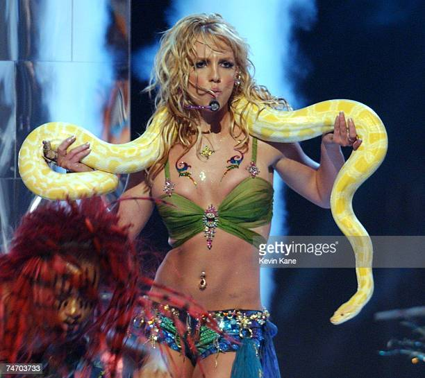 Britney Spears performs during 2001 MTV Video Music Awards Show at the The Metropolitan Opera House at Lincoln Center in New York NY