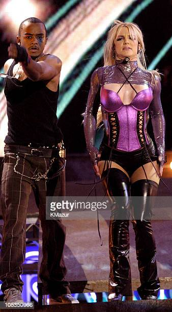 Britney Spears performs 'Me Against The Music' during 31st Annual American Music Awards Show at The Shrine Theater in Los Angeles California United...
