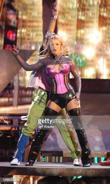 Britney Spears performs Me Against The Music during 31st Annual American Music Awards Show at The Shrine Auditorium in Los Angeles California United...