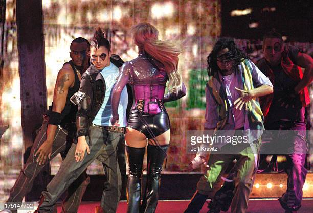 Britney Spears performs 'Me Against The Music' during 31st Annual American Music Awards Show at The Shrine Auditorium in Los Angeles California...