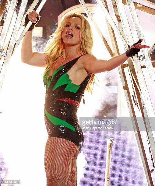 Britney Spears performs on Jimmy Kimmel Live on March 29 2011 in Los Angeles California