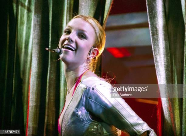 Britney Spears performs on stage at Gelredome Arnhem Netherlands 4th November 2000