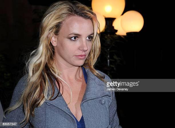 Britney Spears seen on the streets of Manhattan on September 29, 2008 in New York City.