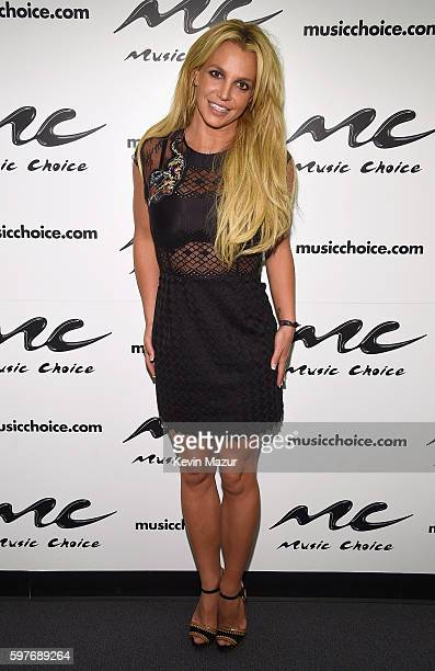 Britney Spears Visits Music Choice on August 29 2016 in New York City