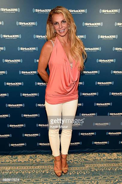 Britney Spears visits The SiriusXM Studios on August 26 2016 in New York City