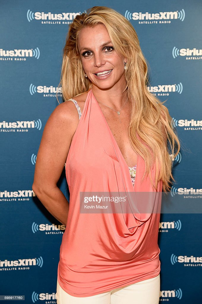 Britney Spears visits The SiriusXM Studios on August 26, 2016 in New York City.