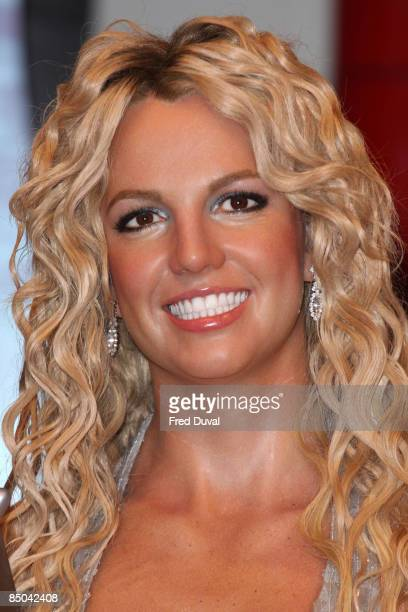 Britney Spears waxwork is unveiled at Madame Tussauds on February 16 2009 in London England