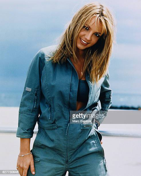 Britney Spearsin Blue Jumpsuit