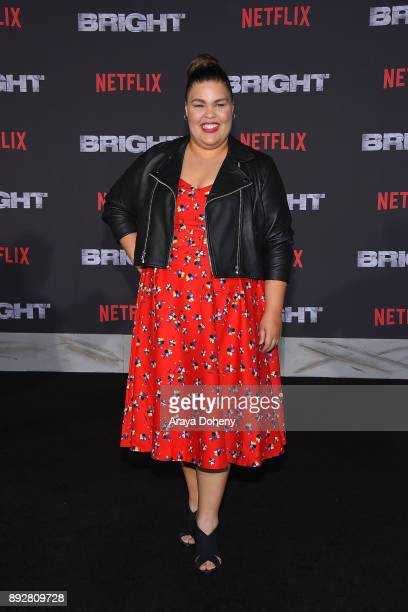 Britney Young attends the premiere of Netflix's 'Bright' at Regency Village Theatre on December 13 2017 in Westwood California