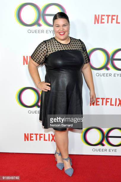 Britney Young attends the premiere of Netflix's 'Queer Eye' Season 1 at Pacific Design Center on February 7 2018 in West Hollywood California