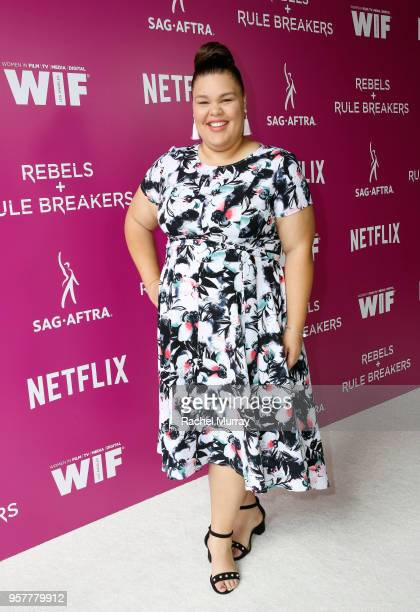 Britney Young attends the Rebels and Rule Breakers Panel at Netflix FYSEE at Raleigh Studios on May 12 2018 in Los Angeles California