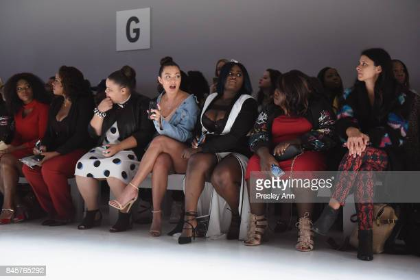 Britney Young Mia Kang Danielle Brooks and Gabourey Sidibe attend the ADDITION ELLE NYFW September 2017 Runway Presentation on September 11 2017 in...