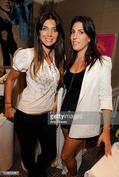 Britny Gastineau and Jessica Meisels attend the Only You Can Save Energy Sustainability Suite at The London Hotel on August 26 2010 in West Hollywood...