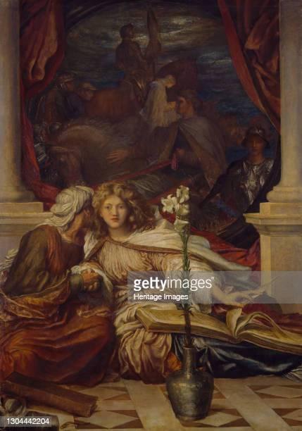 Britomart, 1877-78. The subject is taken from Edmund Spenser's epic poem, 'Faerie Queen'. Artist George Frederick Watts.