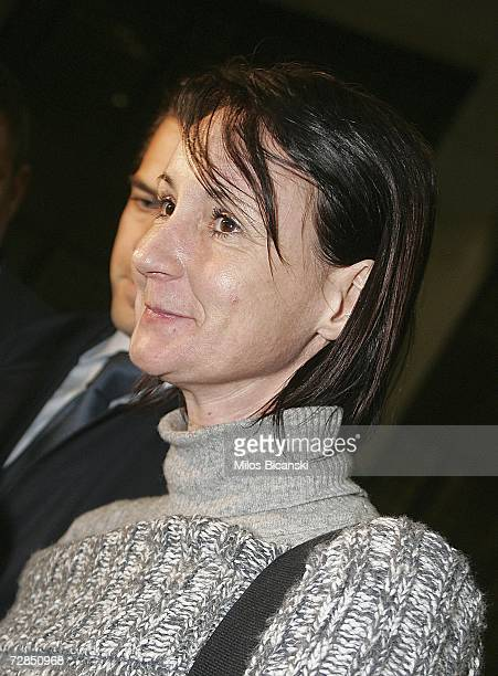Briton Maria Golby 41, from Warwickshire, looks on after being released on bail, December 19, 2006 in Athens, Greece. Golby, who was detained on the...