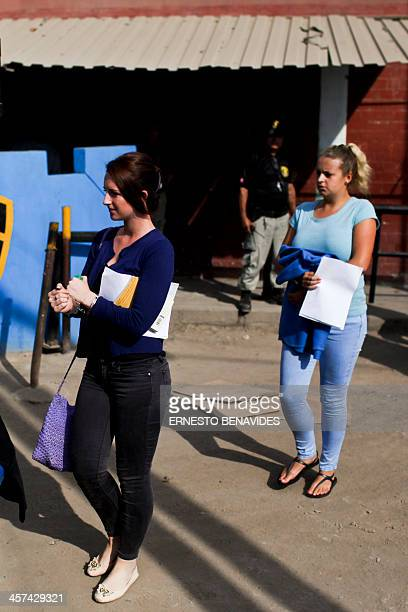 Briton Melissa Reid and Irish Michaella McCollum leave the Sarita Colonia courtroom after being sentenced to six years and eight months prision on...