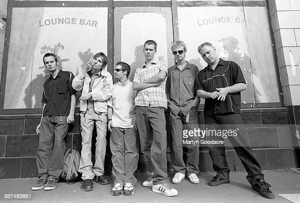 Britpop band Menswear, group portrait, London, United Kingdom, 1996.