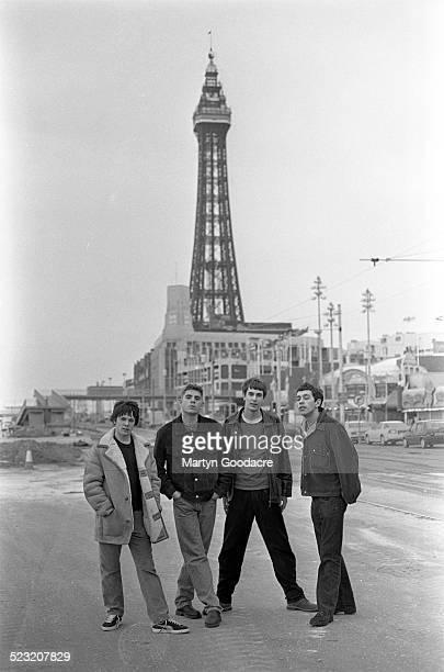 Britpop band Shed Seven group portrait Blackpool United Kingdom 11th February 1994 LR Alan Leach Paul Banks Thomas Gladwin Rick Witter