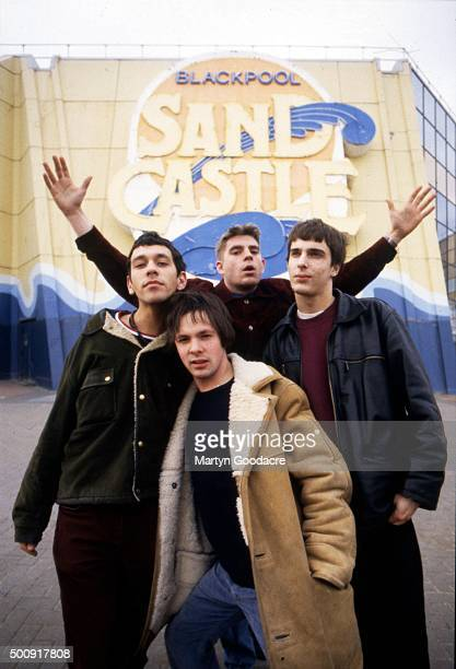 Britpop band Shed Seven group portrait Blackpool United Kingdom February 1994 LR Rick Witter Alan Leach Paul Banks Thomas Gladwin